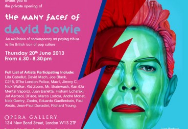 «The many faces of David Bowie», Group exhibition, Opera Gallery, London, 2013
