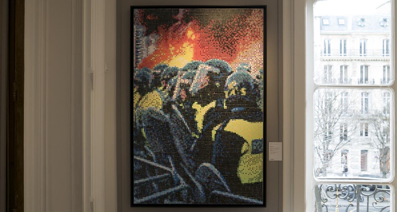 Artcurial-Urban Art-auction : Kan - Le Printemps Canadien (97x146cm) - 19618 Dots