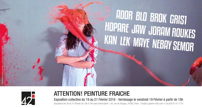 Attention-peinture-fraiche-galerie-42b-groupshow-flyer